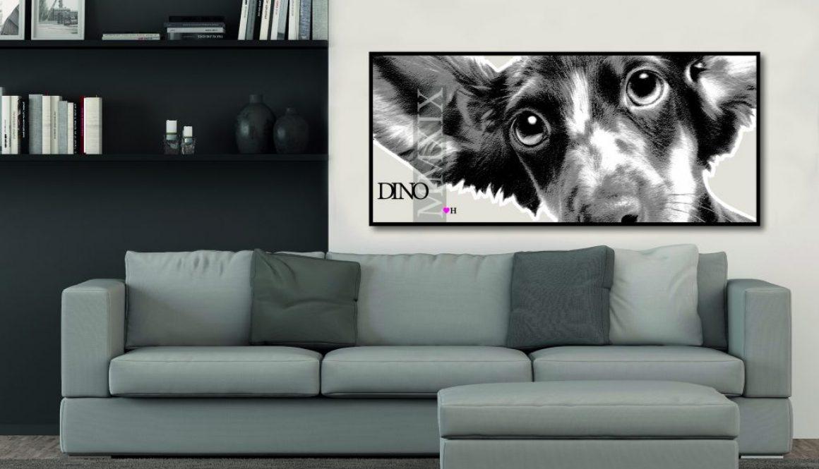 Large Mounted Dog Print