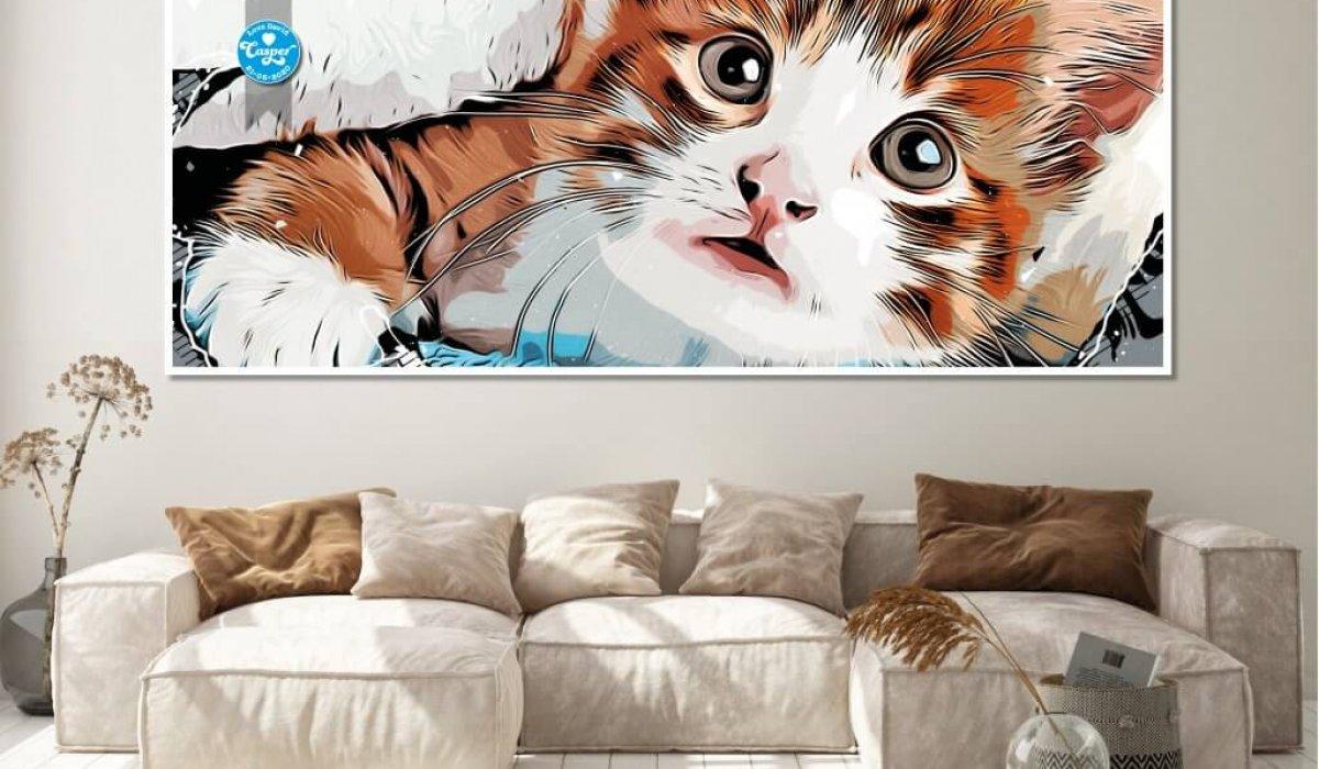 Casper the Kitten Lounge Print