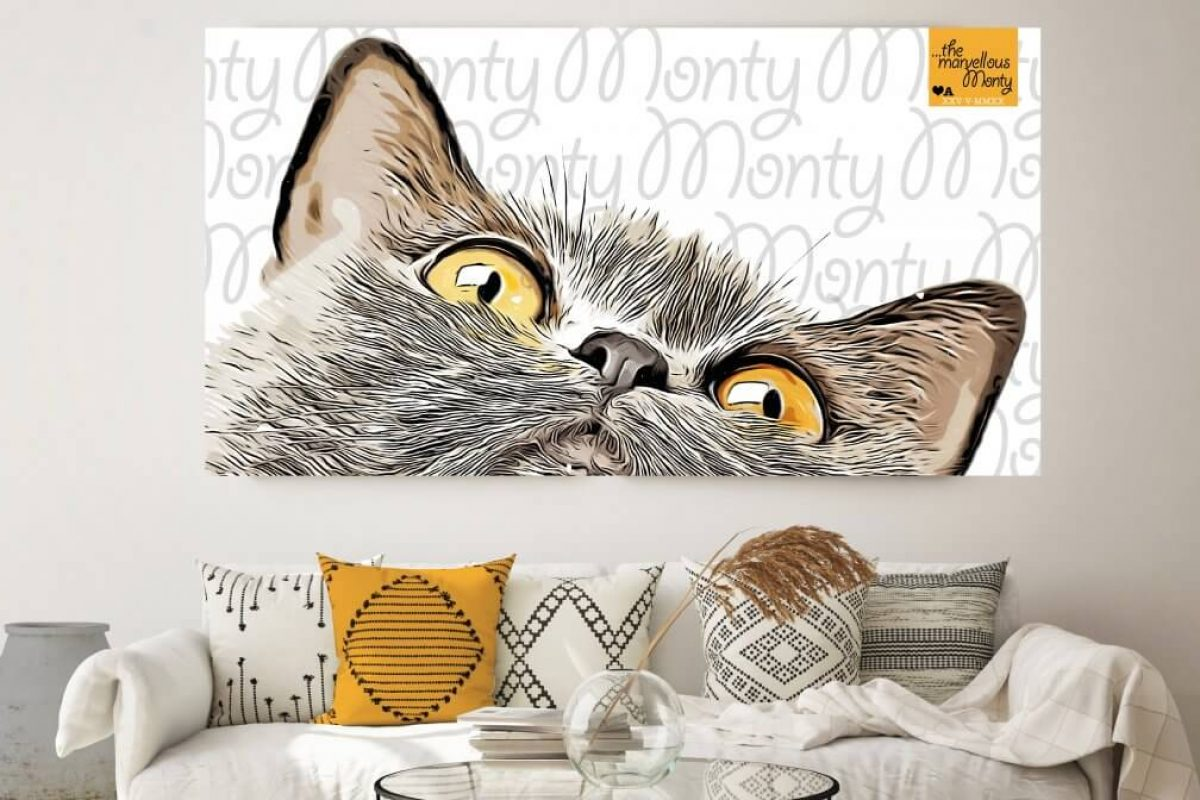 Monty Cat Print Design Lounge