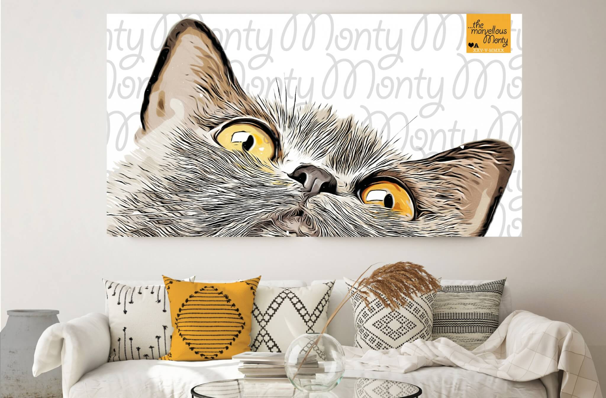 Monty Cat Print Design Lounge