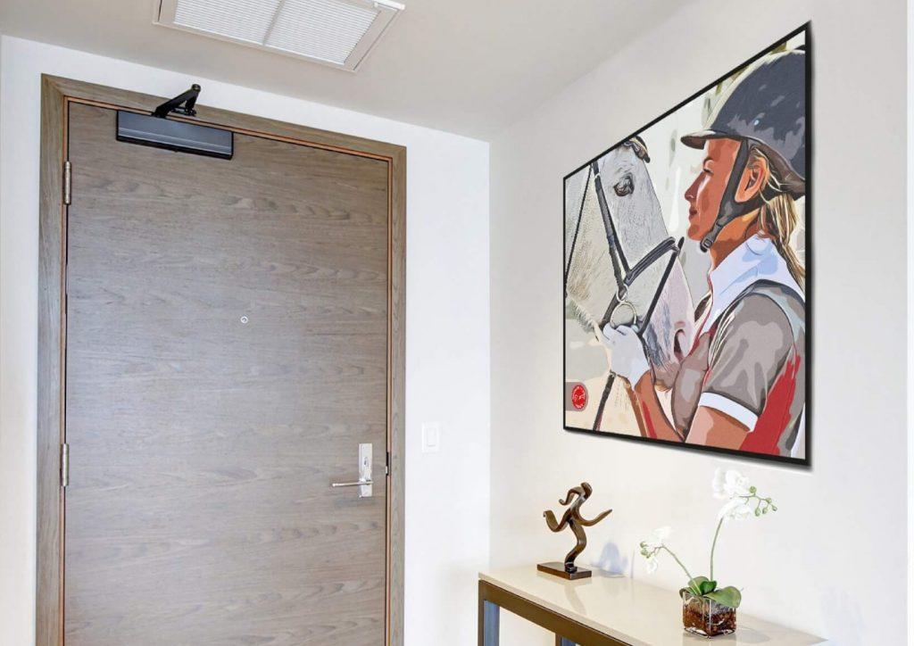 Silver Horse Hallway Image